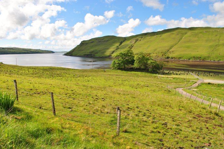 Loch Harport and Merkadale graveyard, Isle of Skye