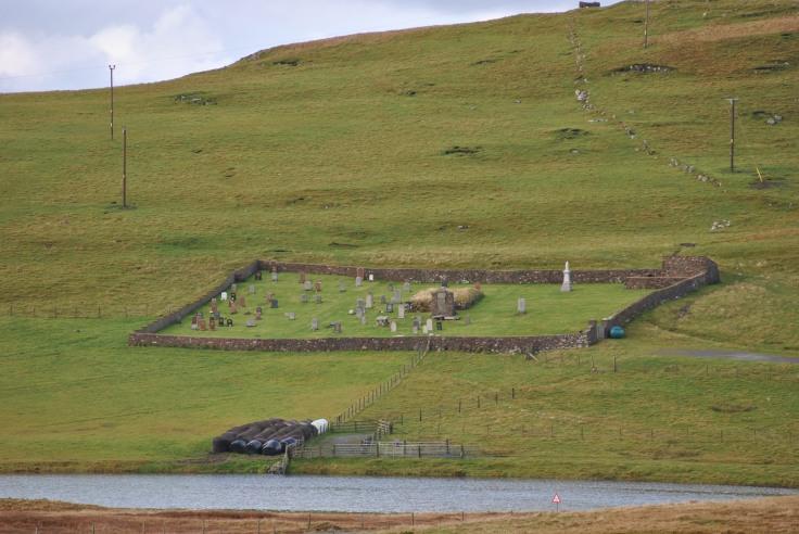 Cross Kirk graveyard, Eshaness, Shetland (1)