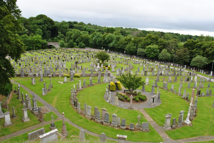 Inverurie cemetery seen from the Bass
