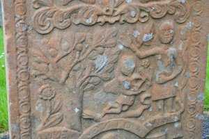 . The intricate and rich carving the symbol needed makes it a rare treat on Scottish graveyards, only few could afford