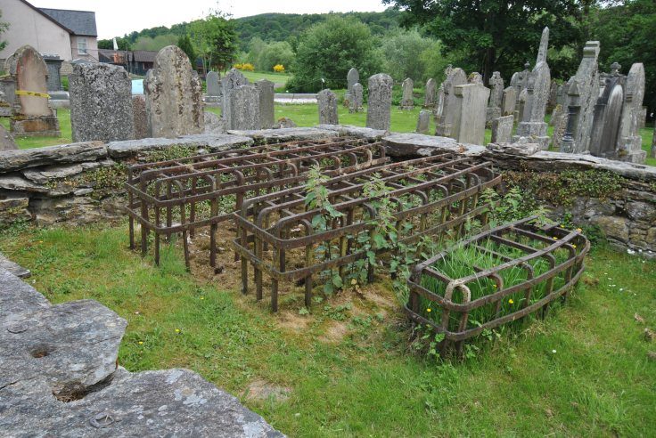 A mortsafe is a cast iron cage to keep the dead safe. And they were very much needed in those days: