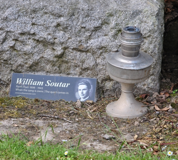 William Soutar's grave