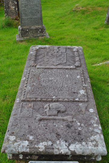 grave of Donald Livingstone who saved the Stewart of Appin banner at Culloden