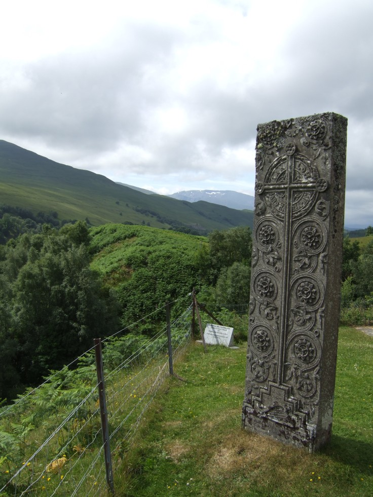 Ian Lom Monument, Cille Choirill, erected by Charles Fraser-Mackintosh