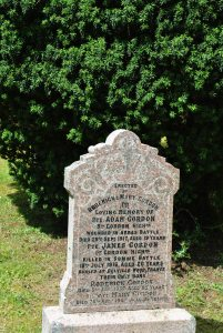 The gravestone of Roderick and Mary Gordon and their sons Adam and James sits in its small graveyard, quietly telling a sad story.