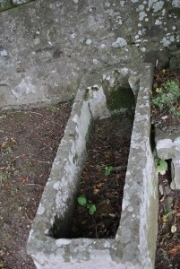 medieval whinstone sarcophagus Rhynie