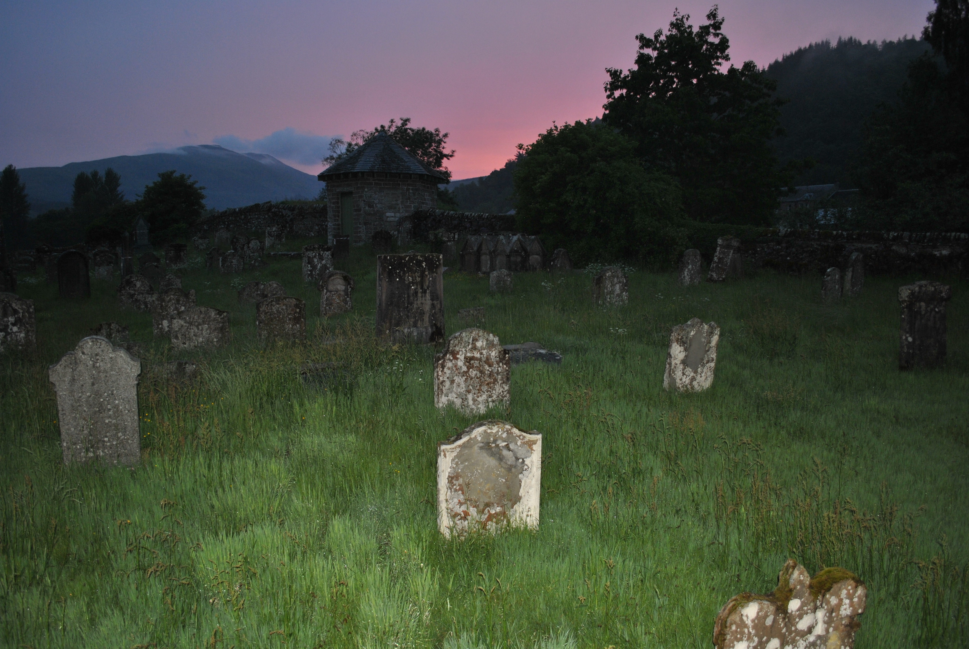 light on untouched graves