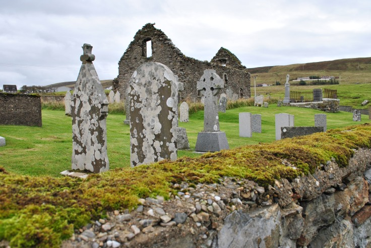 The Old Olnafirth Kirk lies in ruins and has done so for more then a century. It was once known as St. Olaf`s Church and goes back around 300 years old.