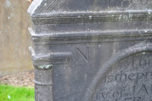 numbered gravestone