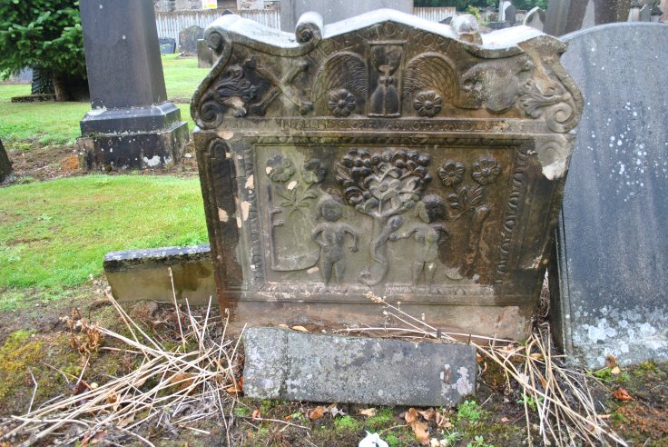 Nellie Merthe Erkenbach Graveyards of Scotland Old Polmont Kirkyard