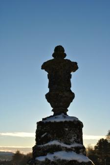 Daviot church graveyards of scotland winter sun