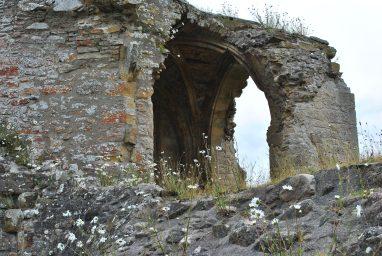 Kinloss Abbey and graveyard Moray Scotland