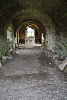Kinloss Abbey and graveyard Moray Scotland