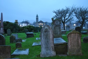 Old High Church Inverness executed in a graveyard of Scotland