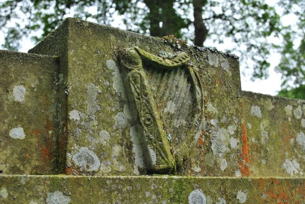 harp carved grave James Hogg