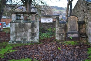 Saint Clements burial ground supermarket Graveyards of Scotland