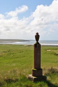 solitary column with urn sea view