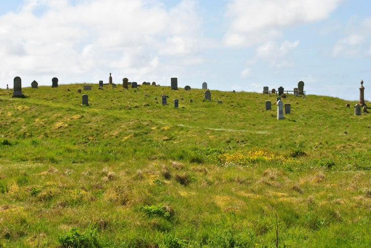 no traces of ancient chapel on Barvas cemetery