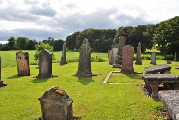 graves in sunlight