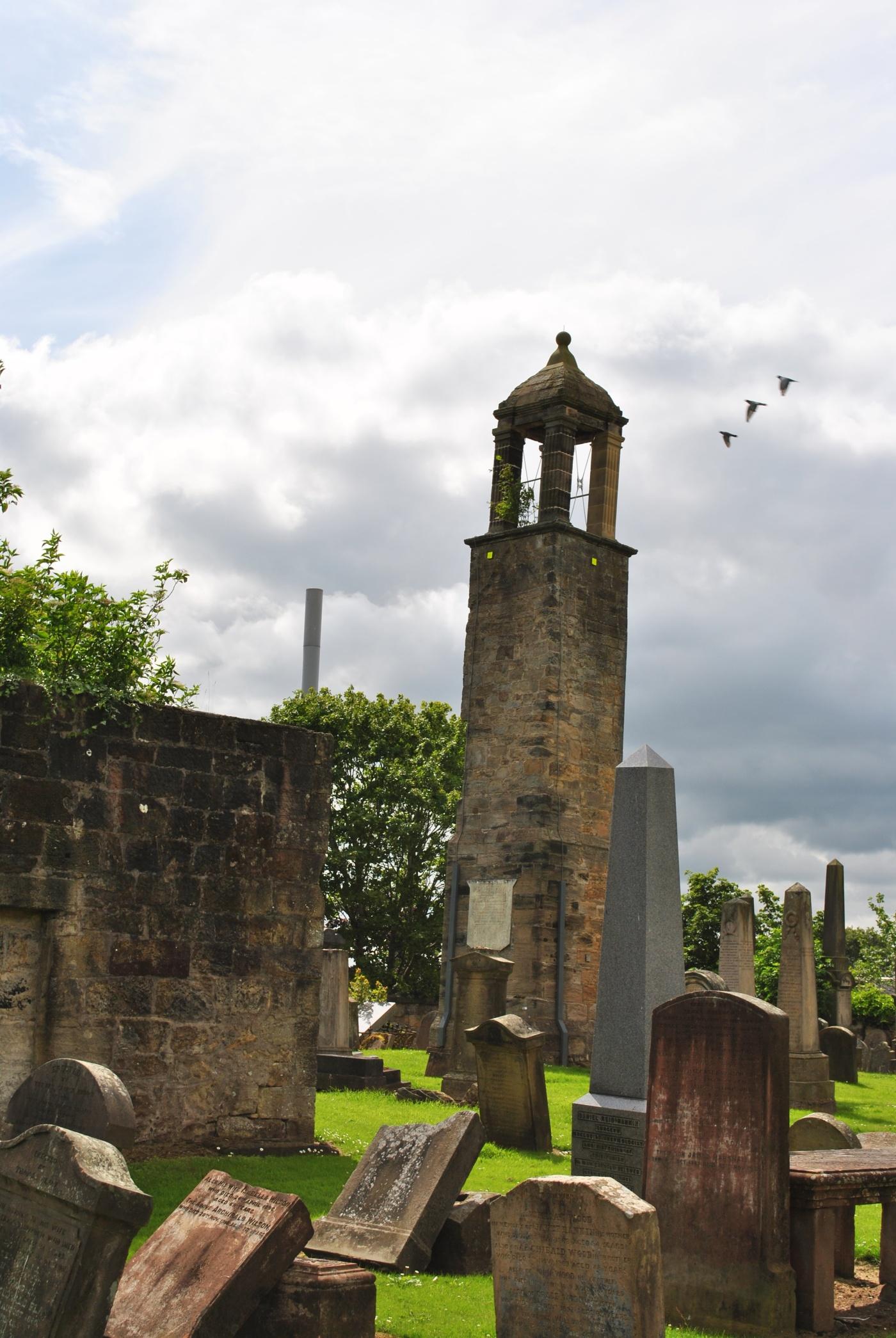 Carluke graves and bell tower