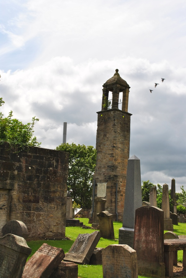 Carluke graves and bell tower