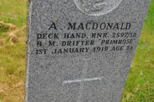 CWGC war grave A. MacDonald Crosbost