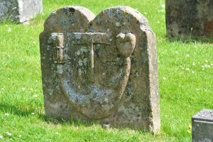 symbols on gravestone
