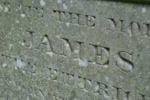 inscription James Hogg grave