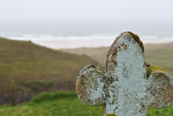 view from gravestone to Traigh Mhor Tolsta Tolstadh Lesi