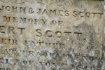 gravestone inscription Scott