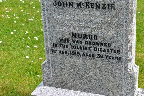 CWGC Murdo McKenzie Iolaire