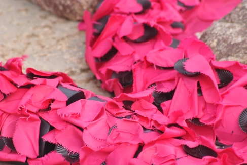 poppies commemorating victims of Iolaire disaster