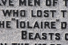 inscription Iolaire memorial