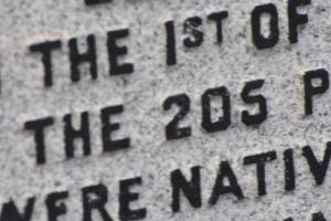 inscription 205 Iolaire memorial