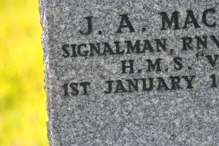 closeup 1st January CWCG gravestone Signalman