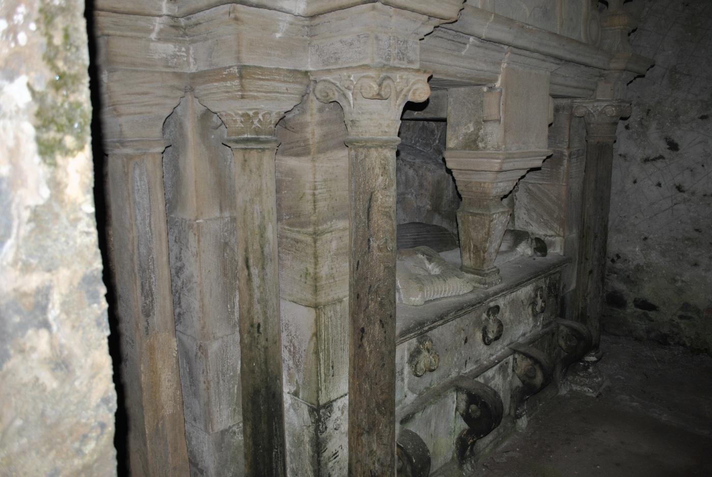 inside Ballantrae mausoleum