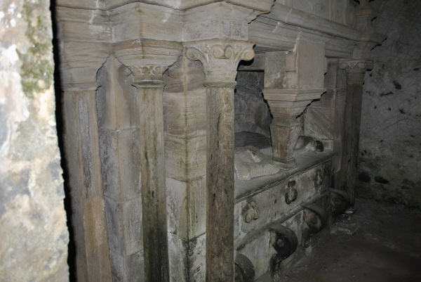 inside Ballantrae mausoleum