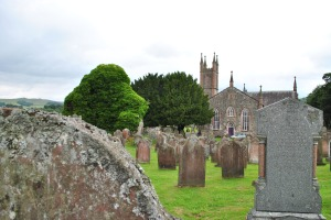ivy covered remains old church Glencairn