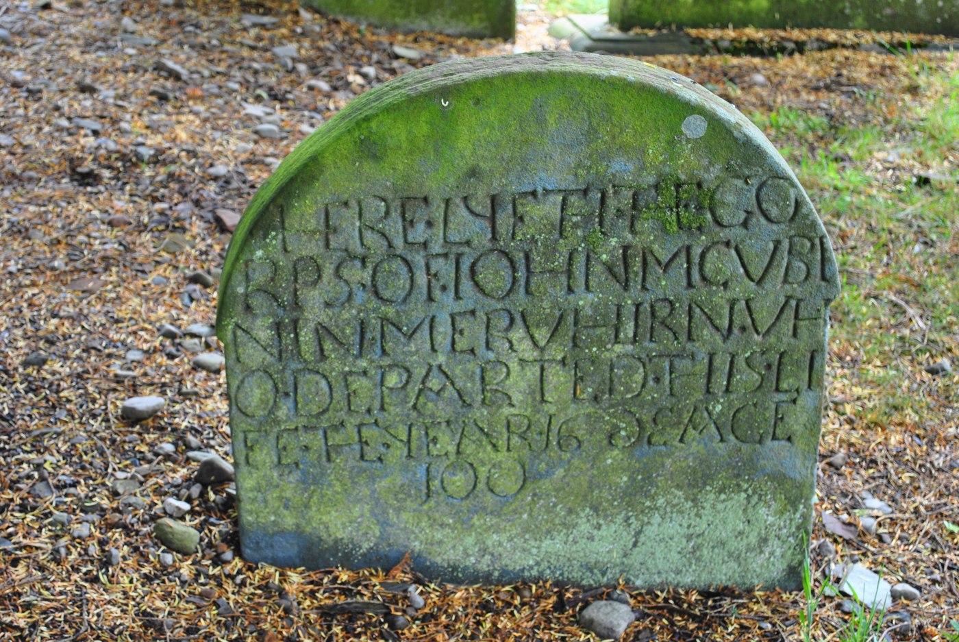first stone in graveyard