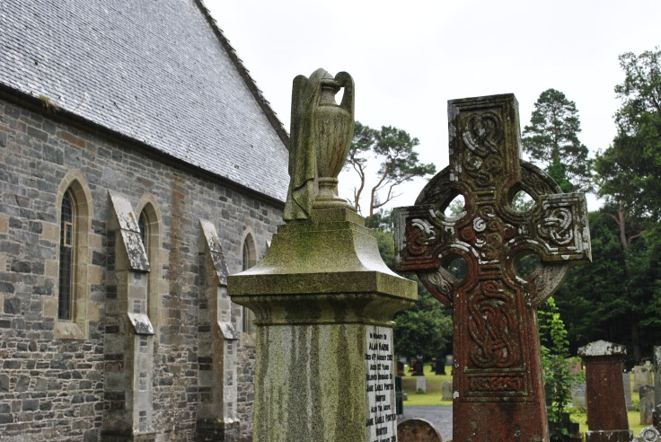 celtic cross and urn