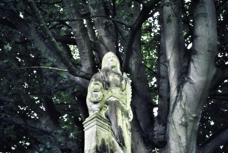 shrouded statue