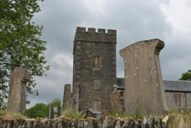 church and gravestones