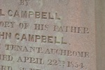Campbell name gravestone
