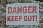 sign danger keep out