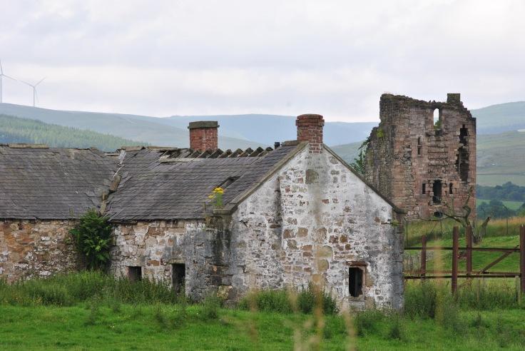 derelict building and castle