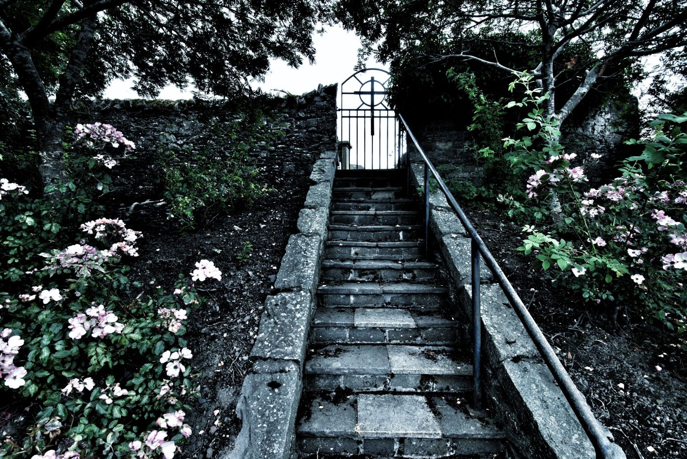 stairs to Selkirk graveyard