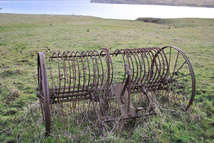 rusty farm equipment, Scorrybreck, Portree