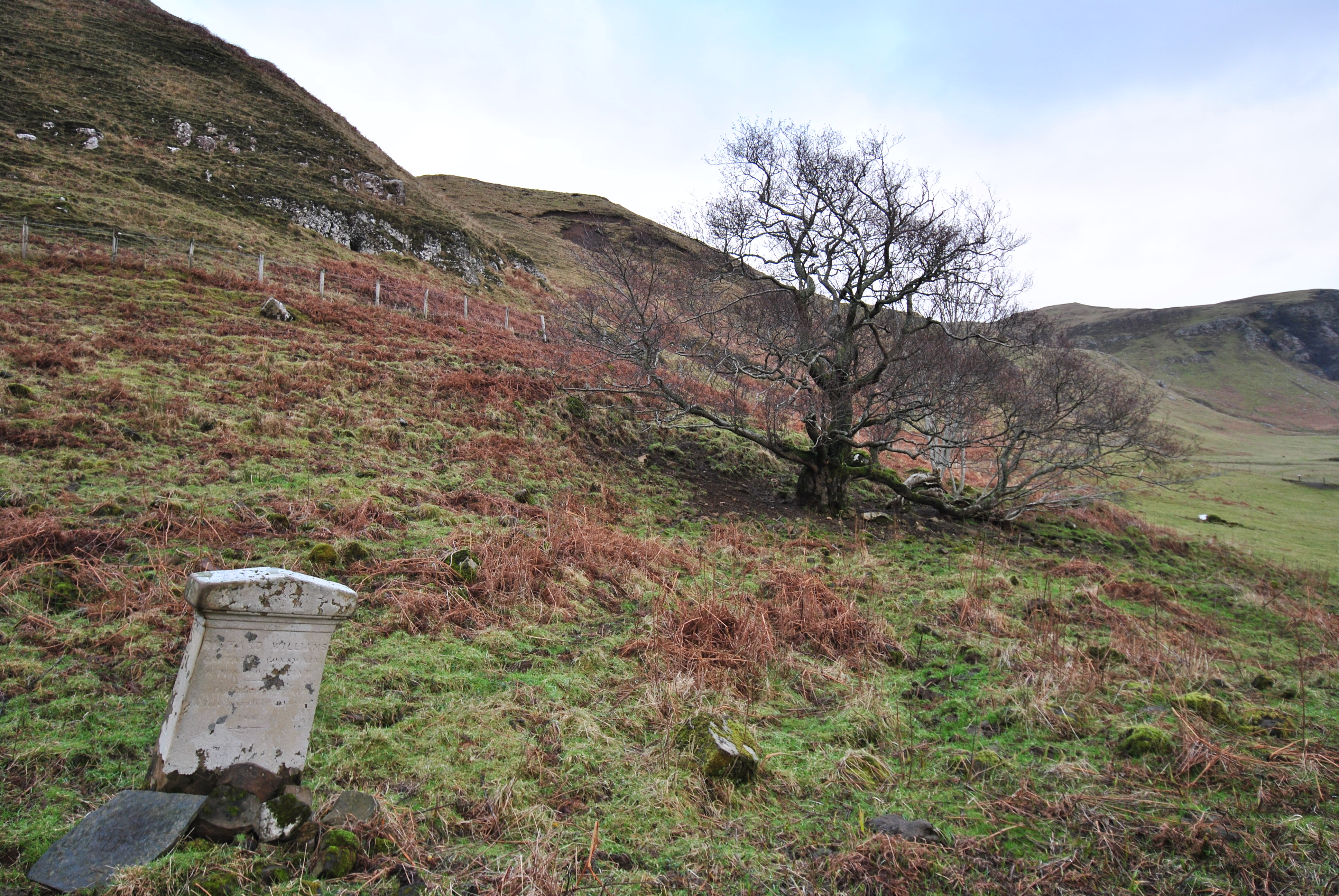 remains of an old graveyard, Scorrybreck, Portree